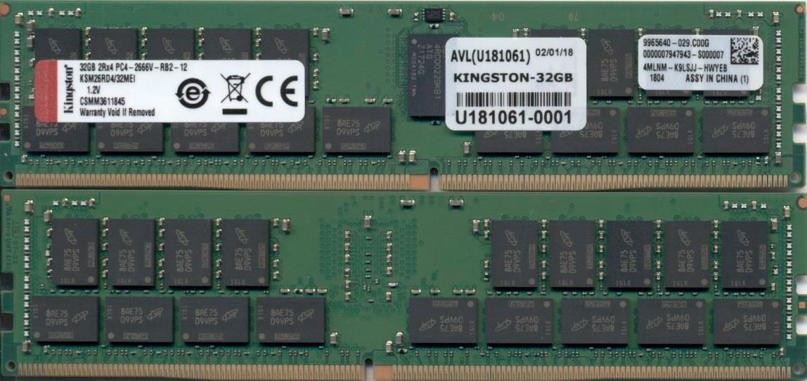 Kingston Technology KSM26RD4/32MEI módulo de memoria 32 GB DDR4 2666 MHz ECC