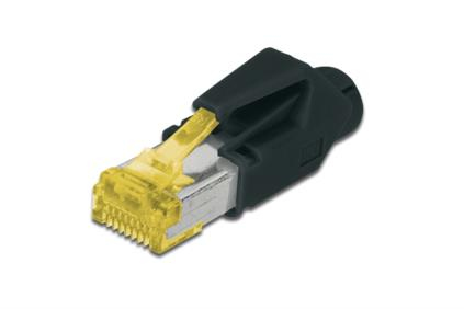 ASSMANN Electronic CAT6A kabel-connector RJ-45 Zwart, Geel
