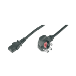 ASSMANN Electronic AK-440107-018-S power cable Black 1.8 m BS 1363 C13 coupler