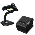 EPSON TM-T88VI-241 Thermal Receipt Printer Built-in Ethernet, USB, Serial, With PSU, bundled with Birch Barcode scanner 24POSBZ-188II