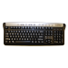 Visikey High Vis Keyboard white letters US layout
