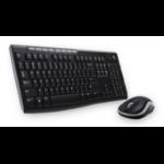 Logitech MK270 keyboard RF Wireless Arabic Black