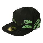 HARRY POTTER Wizards Unite Slytherin Logo & Symbol Snapback Baseball Cap, Black (SB107336HPT)