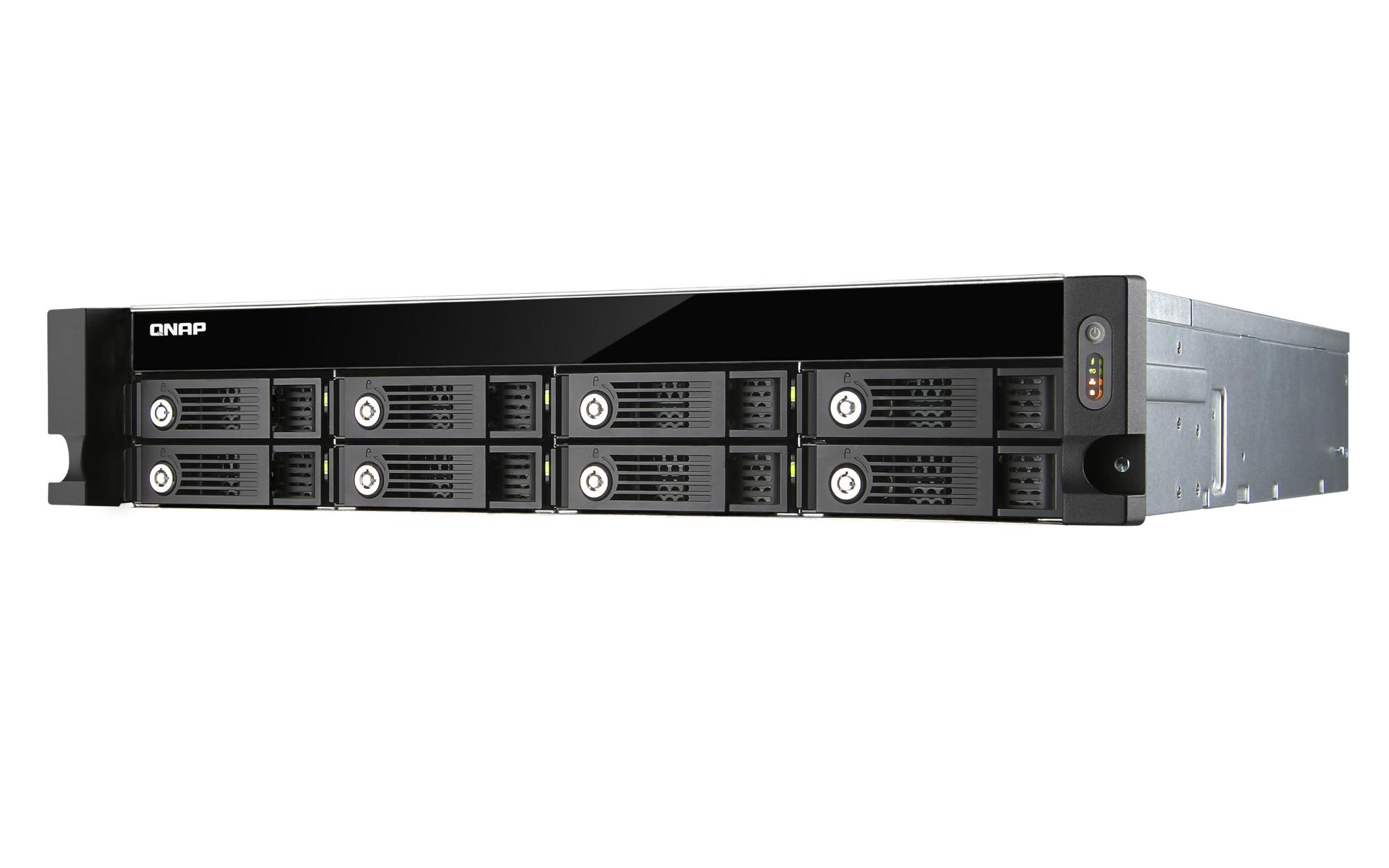 QNAP TVS-871U-RP NAS Rack (2U) Ethernet LAN Black,Grey