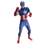 Marvel Captain America Adult Cosplay Costume Morphsuit, Extra Large, Multi-Colour (MLCAX-XL)
