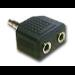 MCL Doubleur de jack 3,5mm stereo ( 1Male / 2 Femelle) HQ Jack 3.5 mm mail 2 x Jack 3.5 mm femail Negro