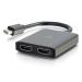 C2G Concentrador de Mini DisplayPort[TM] 1.2 a Dual HDMI[R] MST