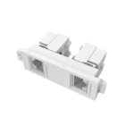 Vision Dual RJ45/RJ11 MODULE - Two shielded female to female ethernet sockets, which are backwards compatib