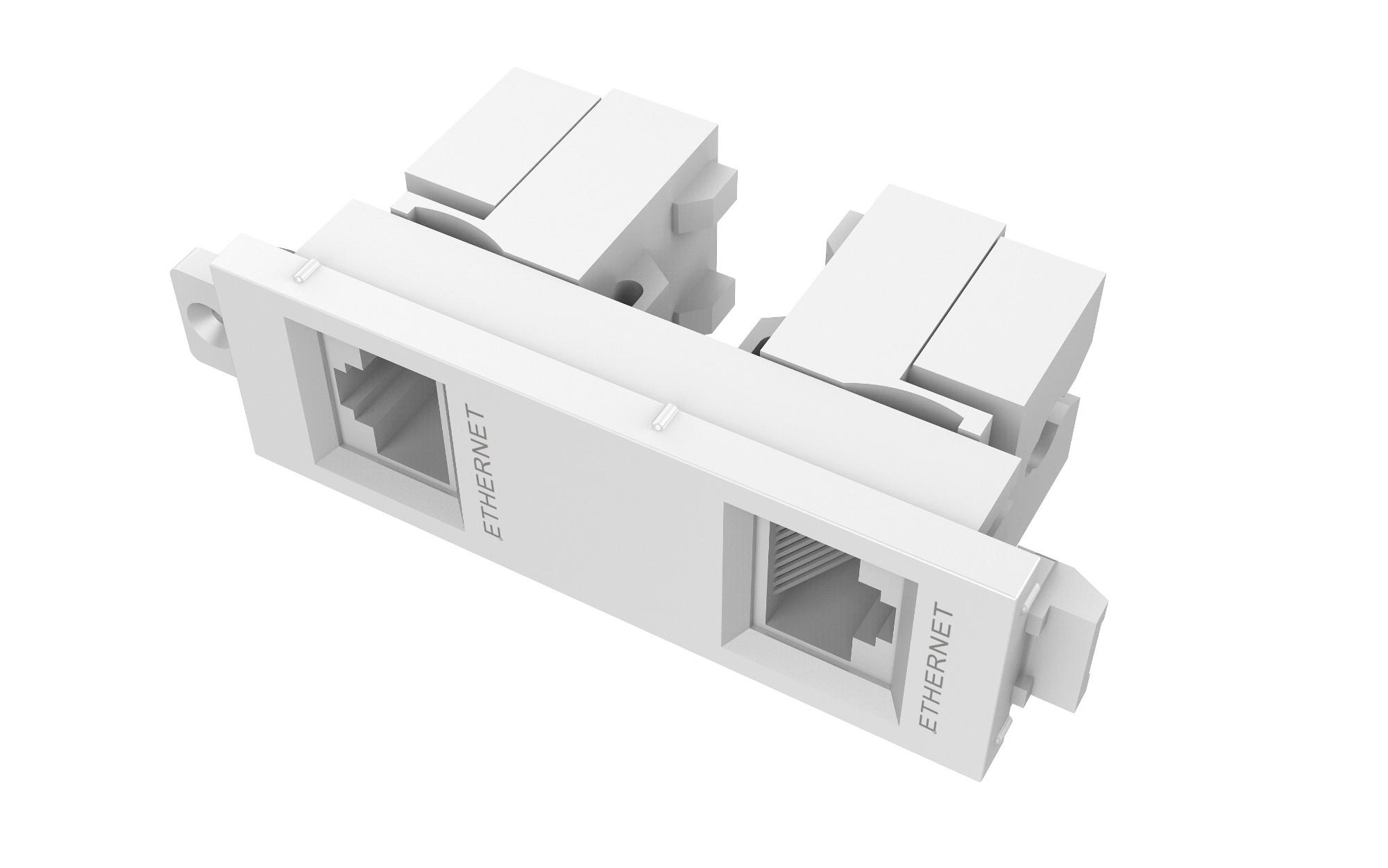 V3 Module Dual Rj45/rj11 Two Shielded Female To Female Ethernet Sockets