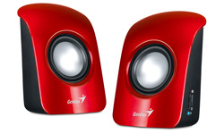 Genius SP-U115 loudspeaker 1 W Red