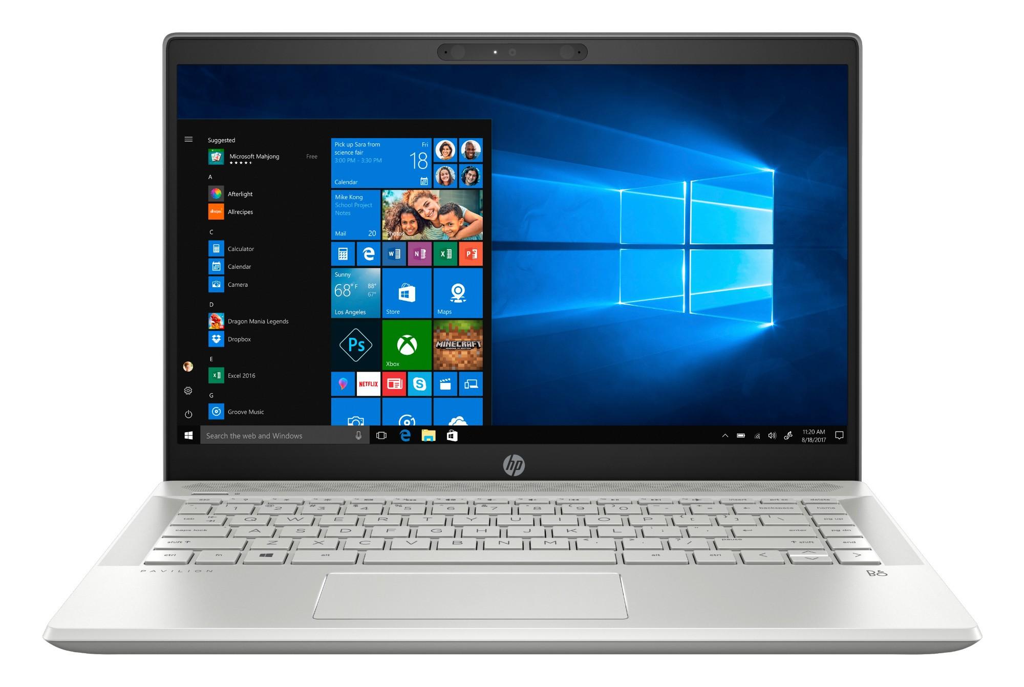 "HP Pavilion 14-ce0010na Silver Notebook 35.6 cm (14"") 1920 x 1080 pixels Intel® Pentium® 4 GB DDR4-SDRAM 128 GB SSD Windows 10 Home S"