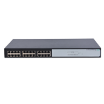 Hewlett Packard Enterprise OfficeConnect 1420 24G Unmanaged Gigabit Ethernet (10/100/1000) Zwart 1U