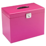 Cathedral Products Value Cathedral Metal File Box A4 Pink