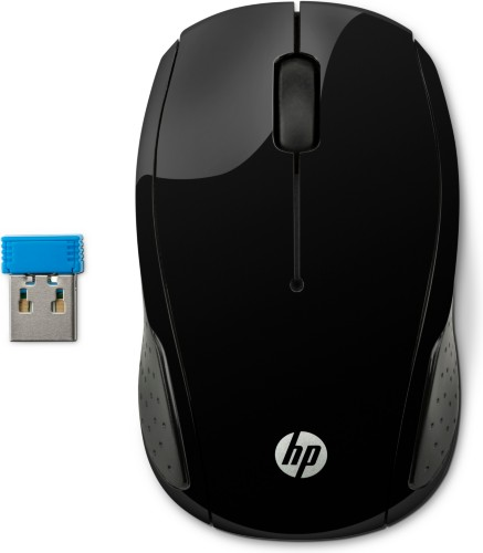 HP 200 mice RF Wireless Optical 1000 DPI Ambidextrous Black