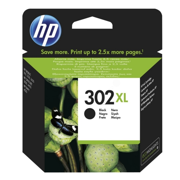 HP F6U68AE (302XL) Ink cartridge black, 480 pages, 9ml