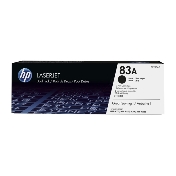 HP CF283AD (83A) Toner black, 1.5K pages, Pack qty 2
