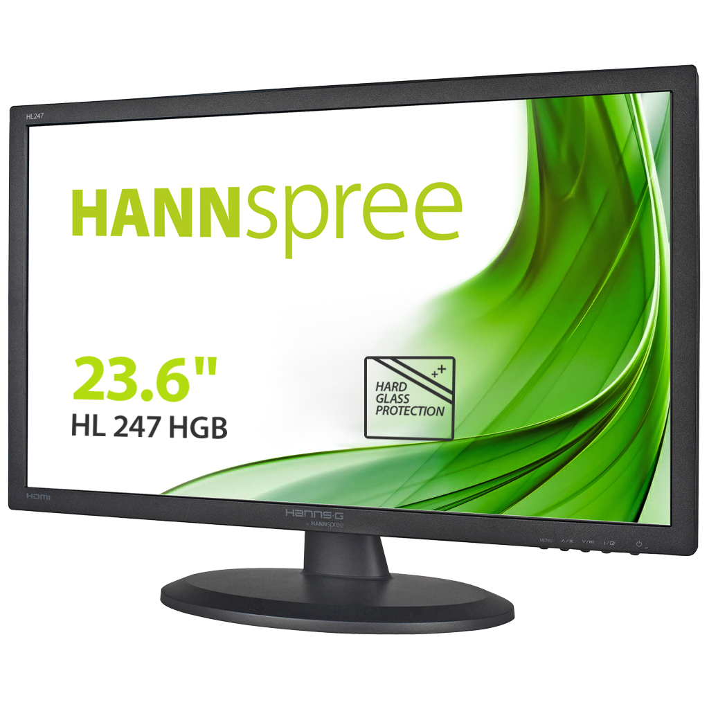 "Hannspree Hanns.G HL 247 HGB computer monitor 59.9 cm (23.6"") Full HD Flat Black"
