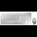 CHERRY DW 8000 Wireless Keyboard & Mouse Set, Silver/White, USB (QWERTY - UK)