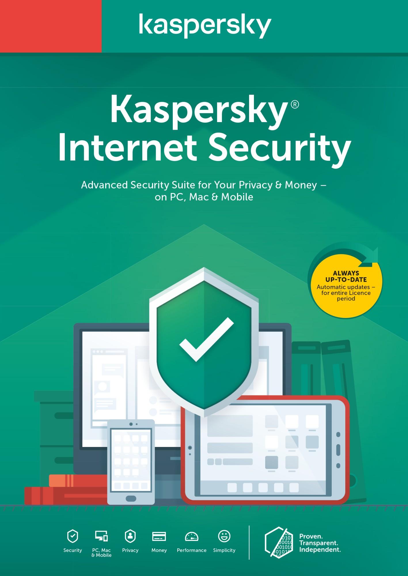 Kaspersky Lab KIS 2020 5dev 1y slim sierra bs noCD BE 1 licentie(s) 1 jaar Nederlands