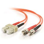 C2G 85481 2m SC ST Orange fiber optic cable