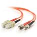 C2G 85481 cable de fibra optica 2 m OFNR SC ST Naranja