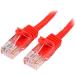 StarTech.com Cable de Red de 0,5m Rojo Cat5e Ethernet RJ45 sin Enganches