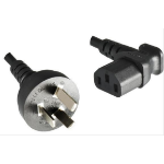 Microconnect PE150418A 1.8m Power plug type I C13 coupler Black power cable
