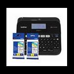 Brother PT-D450 PC CONNECTABLE LABELLER Bonus 2 Tapes (TZE-231 & TZE-241)