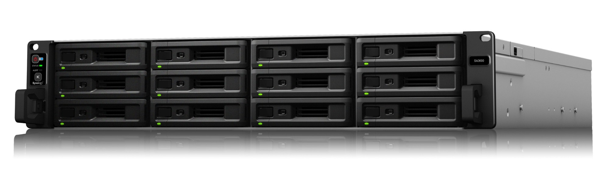 Synology RackStation SA3600 NAS/storage server Ethernet LAN Rack 2U Black,Grey