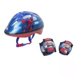 Marvel Ultimate Spider-man Kid's Activities Helmet, Knee Pads and Elbow Pads Protection Set, Multi-colour (