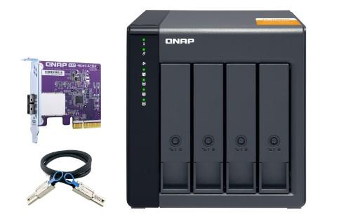QNAP TL-D400S HDD/SSD enclosure Black 2.5/3.5