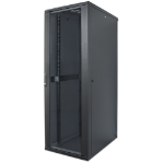 "Intellinet 19"" Network Rack, 42U, 2033 (h) x 600 (w) x 600 (d) mm, IP20-rated housing, Max 1500kg, Flatpack, Black"