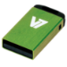 V7 Nano USB 2.0 16GB USB flash drive USB Type-A Groen