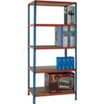 Standard Duty 900x600mm Painted Orange Shelf Unit Blue 378978