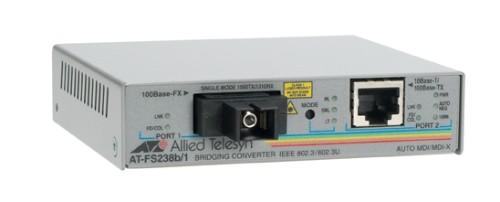Allied Telesis AT-FS238A/1 Fast Ethernet Single Strand Fiber Media Converter 100Mbit/s network media converter