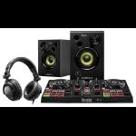 Hercules DJLearning Kit DJ controller Black Digital Vinyl System (DVS) scratcher