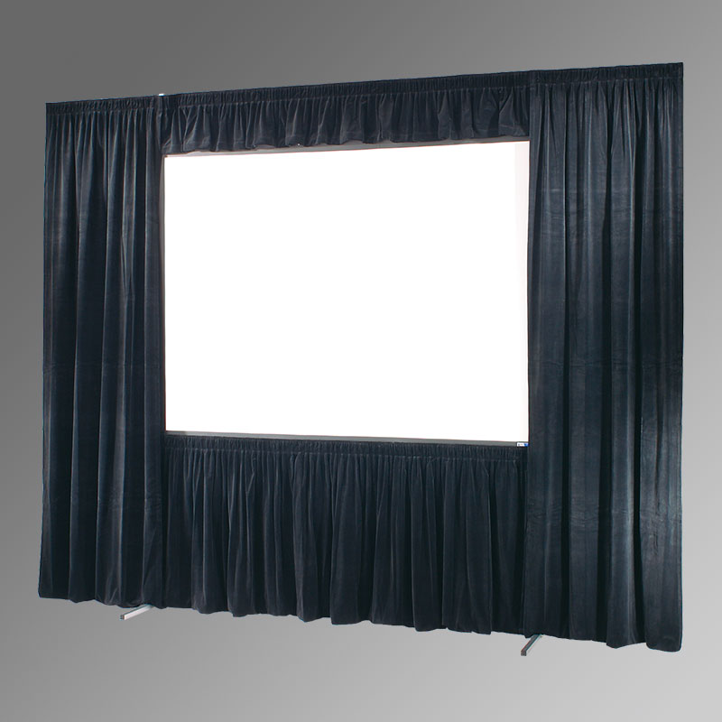Draper Ultimate Folding Screen Dress Kit with Case - 20oz Velour, 142 x 244,