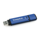 Kingston Technology DataTraveler Vault Privacy 3.0 with Management 4GB 4GB USB 3.0 (3.1 Gen 1) USB Type-A connector Black, Blue USB flash drive
