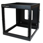 StarTech.com 12U 22in Depth Hinged Open Frame Wall Mount Server Rack RK1219WALLOH