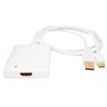 Urban Factory CBB21UF adaptador de cable de vídeo Mini DisplayPort + USB Type-A HDMI tipo A (Estándar) Blanco