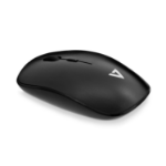 V7 Low Profile Wireless Optical Mouse - Black