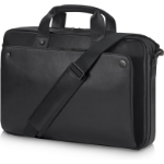 """HP Executive Black Leather 15.6 Top Load notebook case 15.6"""" Briefcase"""