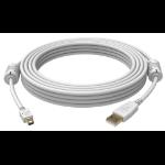 Vision USB 2.0, 1m USB Kabel Mini-USB A USB A Weiß
