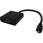 Microconnect HDMIDVGAB video cable adapter 0.25 m HDMI Type D (Micro) VGA (D-Sub) Black