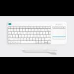 Logitech K400 Plus keyboard RF Wireless QWERTY Pan Nordic White 920-007142