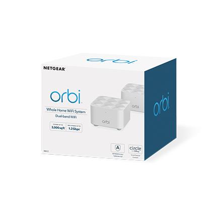 Netgear Orbi WiFi System (RBK12) AC1200 router inalámbrico Doble banda (2,4 GHz / 5 GHz) Gigabit Ethernet Blanco