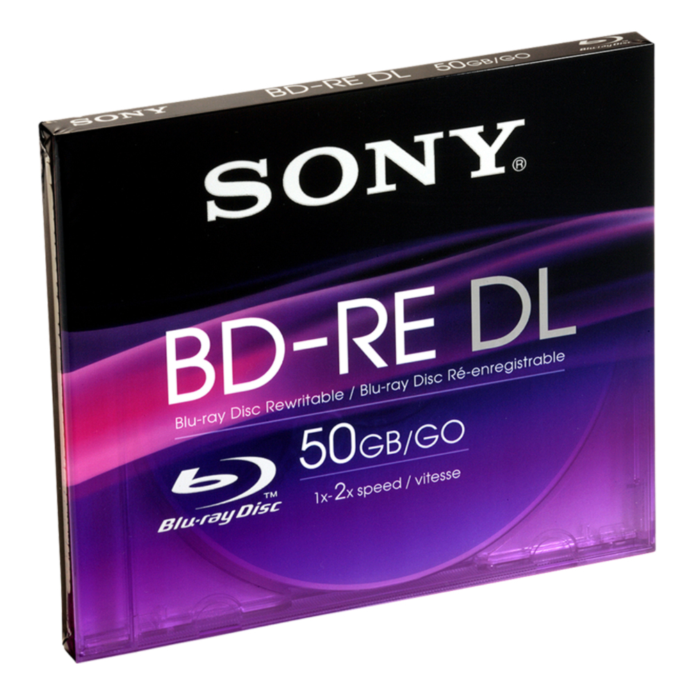 Sony BNE50B Blu-ray Rewritable Media - BD-RE - 2x - 50 GB Jewel Case -