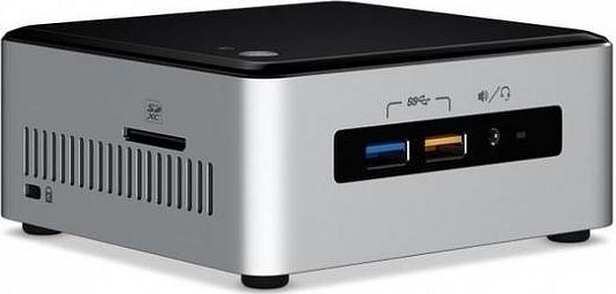 Intel NUC6I3SYH 2.3GHz i3-6100U BGA1356 UCFF Black,Silver