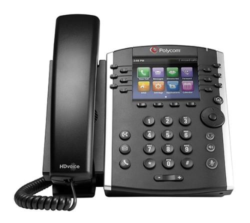 Polycom VVX 411 IP phone Black Wired handset TFT 12 lines
