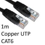 TARGET RJ45 (M) to RJ45 (M) CAT6 1m Black OEM Moulded Boot Copper UTP Network Cable